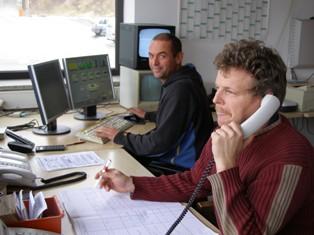 Mitarbeiter des Transportbetonwerks Herr Benedikt und Herr Nebl